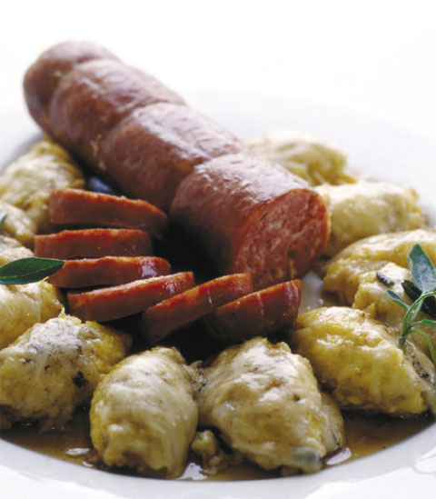 Ricetta Polenta E Salame Al Sale