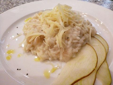 Ricetta risotto alle pere e montasio for Risotto ricette