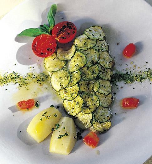 Ricetta pesce al forno con zucchine