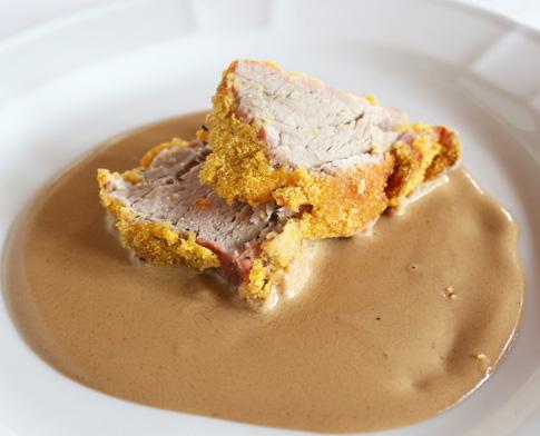 ricetta filetto di vitello in crosta di polenta